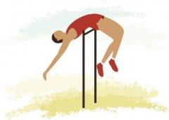 体育健身背越式跳高的训练